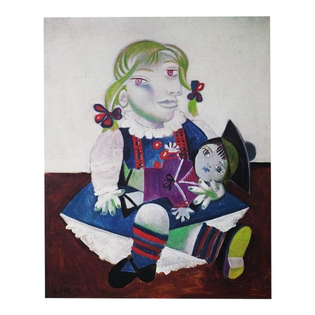 Picasso Portrait De Maya à La Poupée, 1971 Parisian Photogravure For Sale