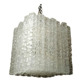 Mid-Century Murano Glass Chandelier by Venini For Sale
