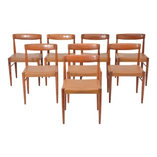 Set of 8 Midcentury Dining Chairs by h.w. Klein for Bramin For Sale