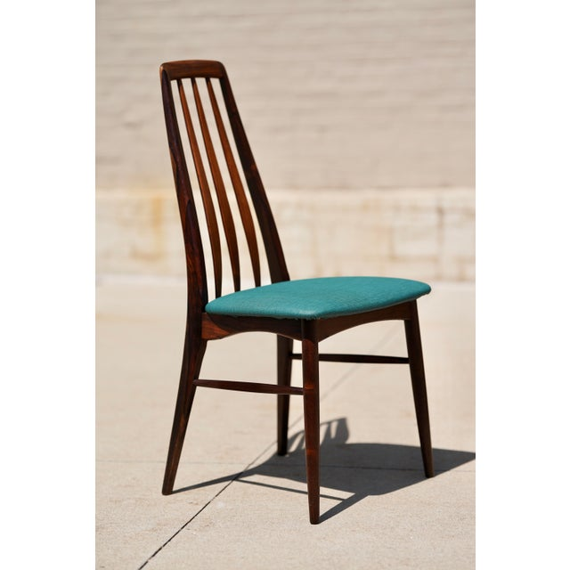 Wood Niels Kofoed for Hornslet Mobelfabrik Henry Rosengren Hansen Rosewood Dining Table- 5 Pieces For Sale - Image 7 of 9