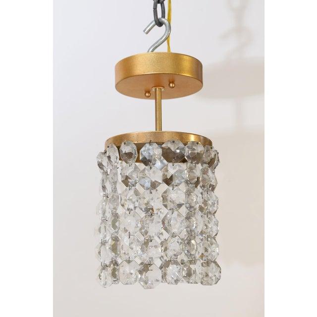 Brass Austrian Single Light Flush Mount For Sale - Image 7 of 10