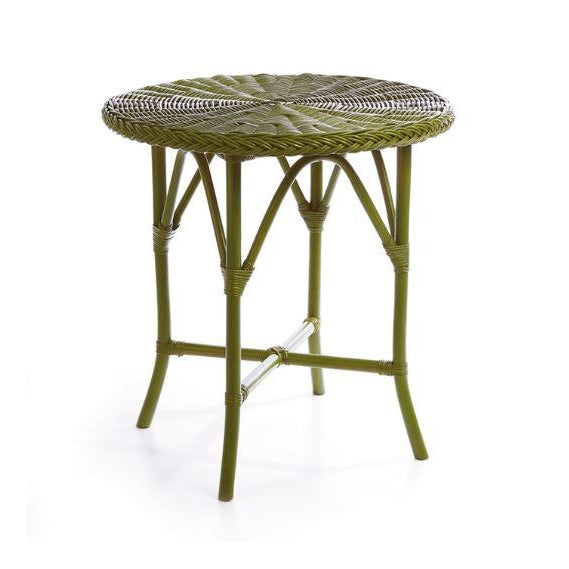 """Kenneth Ludwig Chicago Kenneth Ludwig Green Normandy 30"""" Cafe Table For Sale - Image 4 of 4"""