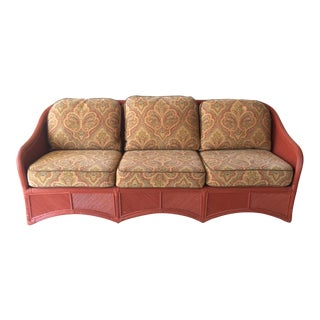 1950s Vintage Reed Sofa For Sale