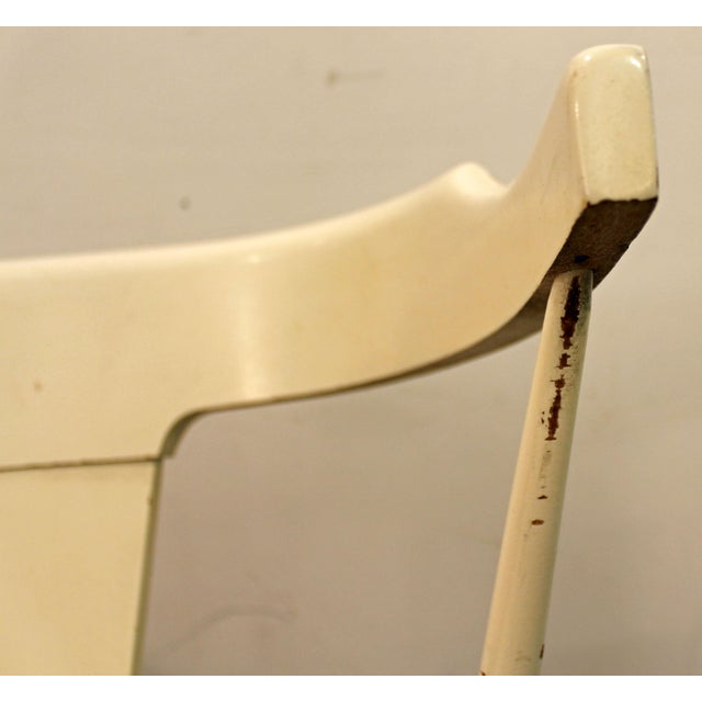 Paint Mid-Century Danish Modern White Paul McCobb Planner Group Desk Side Chair For Sale - Image 7 of 11