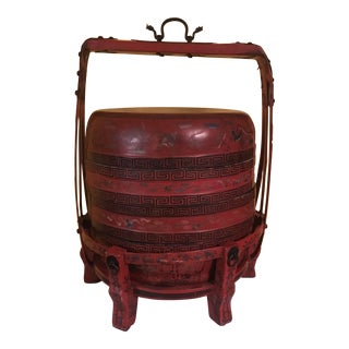 Monumental Red Chinese Wedding Box