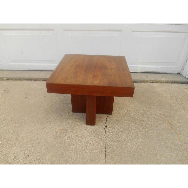 Mid-Century Danish Modern Walnut End Table - Image 3 of 6