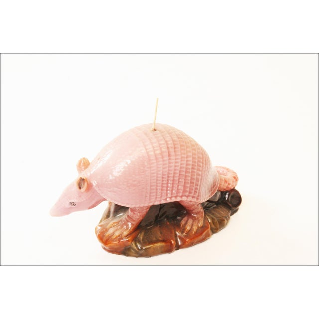 Vintage Pink Armadillo Wax Candle - Image 11 of 11
