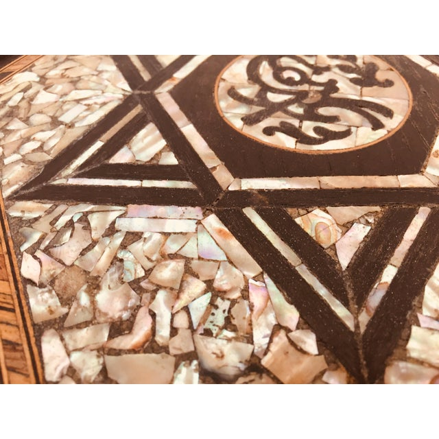 19th Century Moorish Mother-Of-Pearl Inlaid Table For Sale - Image 12 of 13