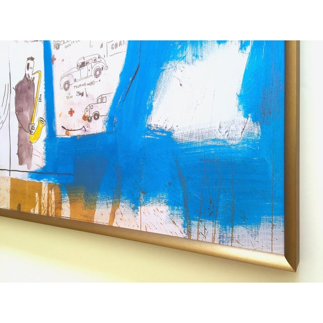 """Jean Michel Basquiat Rare Vintage 1997 Framed Lithograph Fine Art Print """" Worthy Constituents """" 1986 For Sale - Image 12 of 13"""
