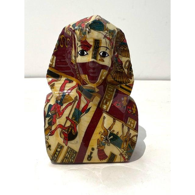 Traditional Vintage King Tut Egypt Figurine For Sale - Image 3 of 9