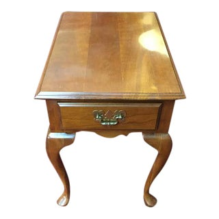 Harden Cherry End Table With Drawer For Sale