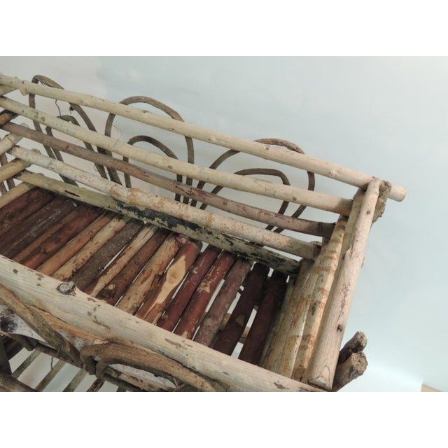Vintage Willow and Wicker Large Plant Stand - Image 6 of 6