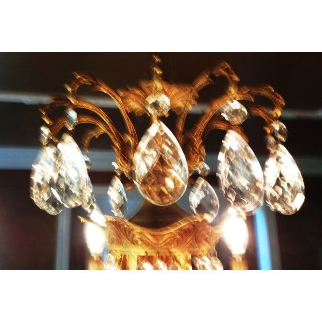 French Crystal Empire Style Chandelier - Image 6 of 8