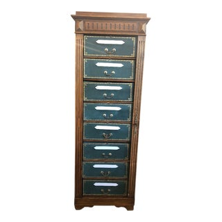 19th Century French Walnut Cartonnier Cabinet For Sale