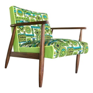 Mid-Century Modern Green Chair For Sale