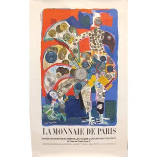 1972 Original Vintage Museum French Poster - La Monnaie De Paris by Roger Bezombes For Sale