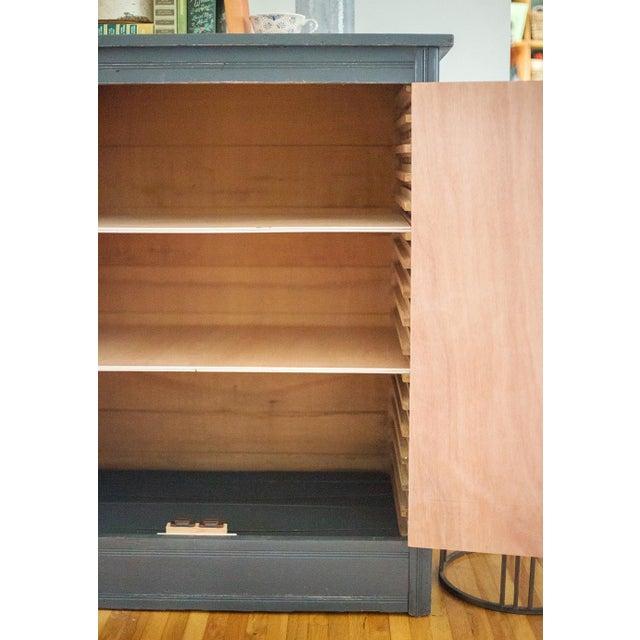 Antique Letterpress Cedar Cabinet - Image 8 of 11