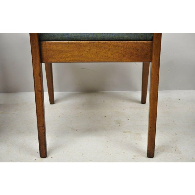 Drexel Dateline John Van Koert Walnut Mid Century Modern Dining Chairs - a Pair For Sale - Image 11 of 13