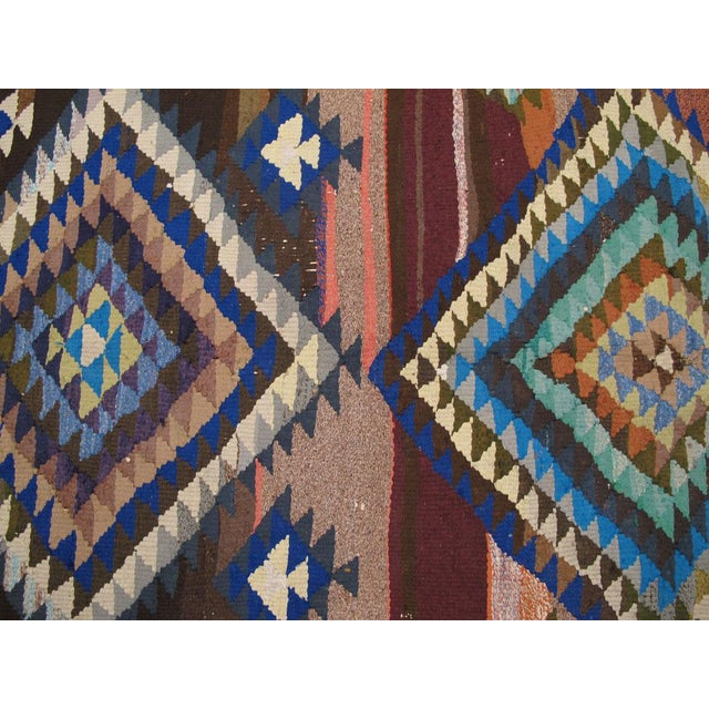 "Vintage Persian Flatweave Kilim Rug – Size: 5"" X 7' 4"" For Sale - Image 4 of 8"