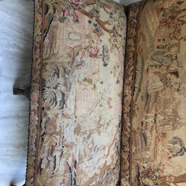 Louis XIV Style Giltwood Settee For Sale In Richmond - Image 6 of 13
