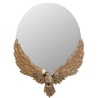 Antique 19th C. Carved Eagle Mirror For Sale