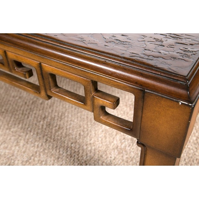 Century Furniture Asian Style and Greek Key Combo Cocktail Table For Sale - Image 4 of 8