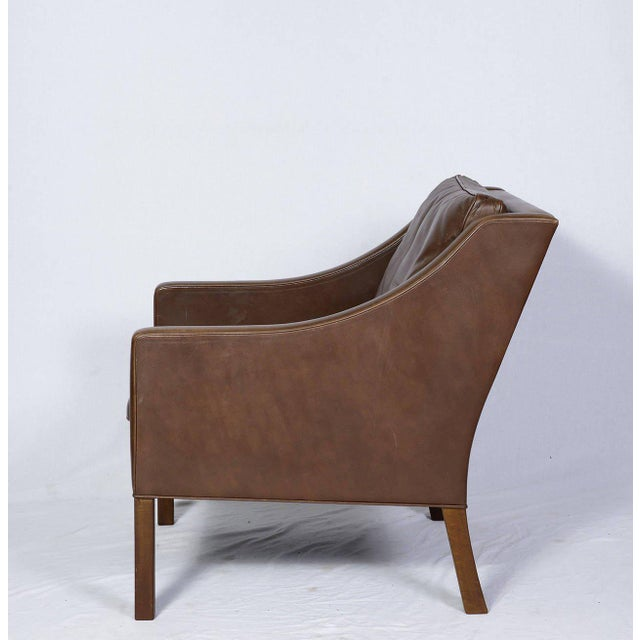 Pair of Borge Mogensen Model #2207 Leather Lounge Chairs - Image 5 of 9