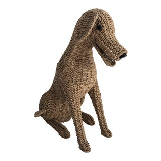 Vintage Raffia Life Size Dog