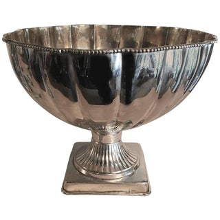 Stunning Silver Plate Pedestal Bowl Punch Bowl For Sale
