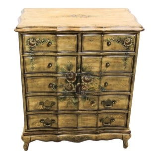 Floral Lingery Chest Of Drawers For Sale