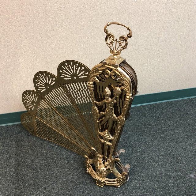 Art Deco Brass Folding Fire Screen For Sale - Image 11 of 13