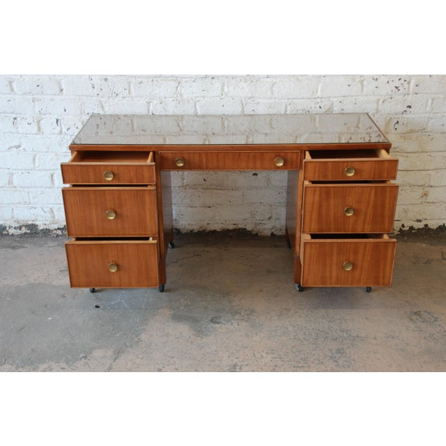 Mahogany Edward Wormley for Dunbar Vanity Dresser, 1941 For Sale - Image 7 of 9