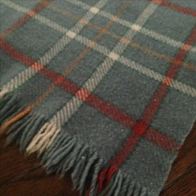 Vintage Plaid Wool Blend Blanket - Image 8 of 11
