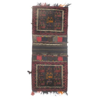 "Vintage Persian Saddlebag - 2'0"" X 4'9"" For Sale"