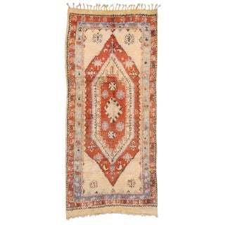 20th Century Moroccan Berber Rug - 5′2″ × 11′3″ For Sale