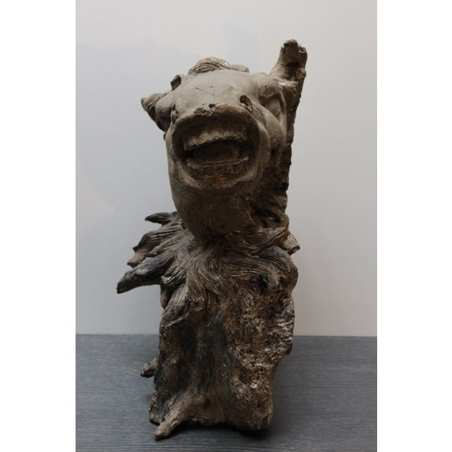 Hand Carved Bust of Horse Head in Wood - Image 6 of 11