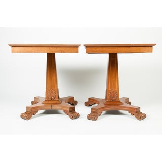 Pair of Light Mahogany Side Tables For Sale