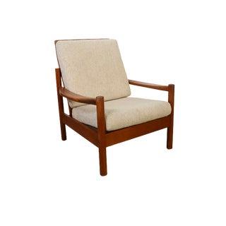 Mid Century Modern Danish Teak Lounge Chair For Sale