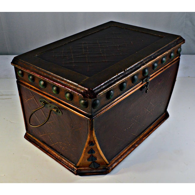 Decorative Wooden Coffer - Image 5 of 10