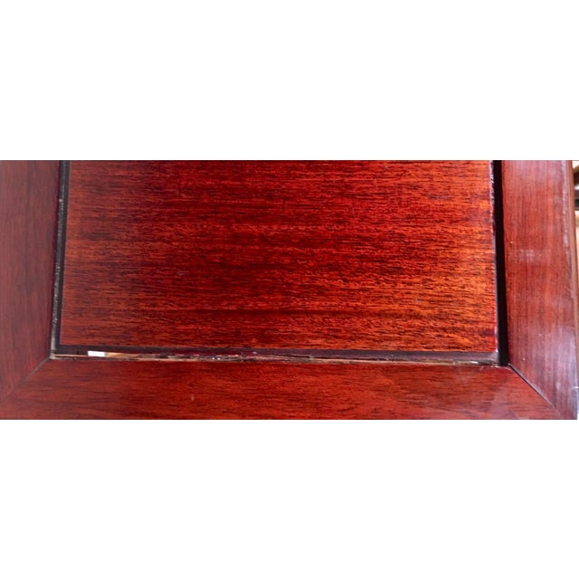 Wood 1940s Chinese Rosewood Double Pedestal Table For Sale - Image 7 of 8