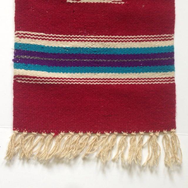 Handwoven Navajo Style Wall Hanging Rug - Image 7 of 11
