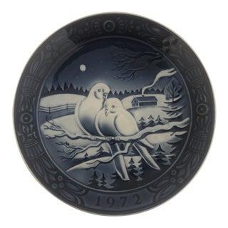1972 Georg Jensen Inc. Christmas Plate For Sale
