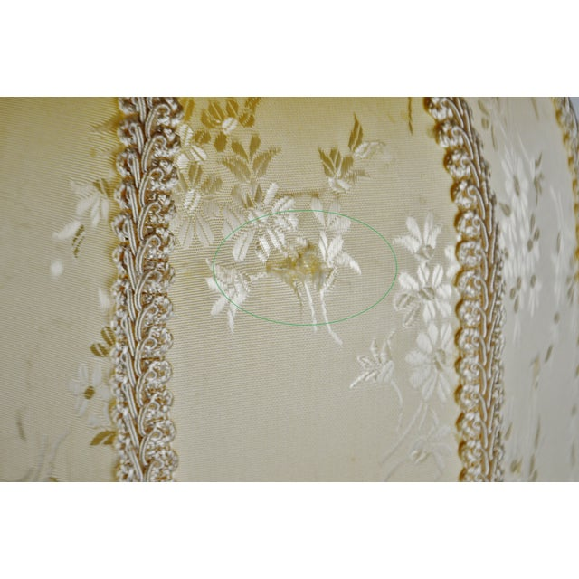 White Vintage Victorian Style Bell Shaped Fringe Lamp Shade For Sale - Image 8 of 13
