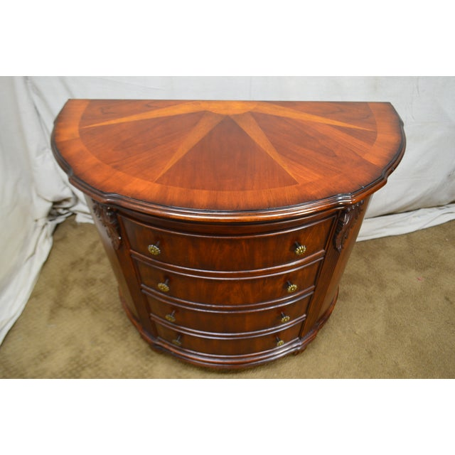 Brown Hooker Furniture Seven Seas Collection Demilune Chest of Drawers For Sale - Image 8 of 13
