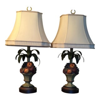 Topiary Table Lamps - A Pair For Sale