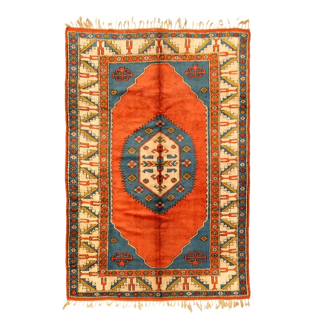 Hand-Knotted Turkish Rug For Sale