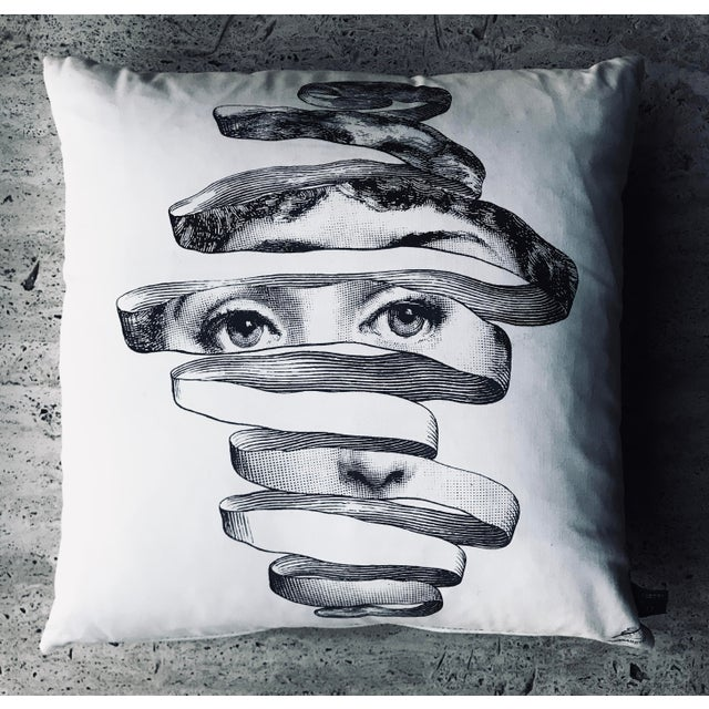 Modern Modern Fornasetti Pillow From the Collection Theme and Variations For Sale - Image 3 of 12