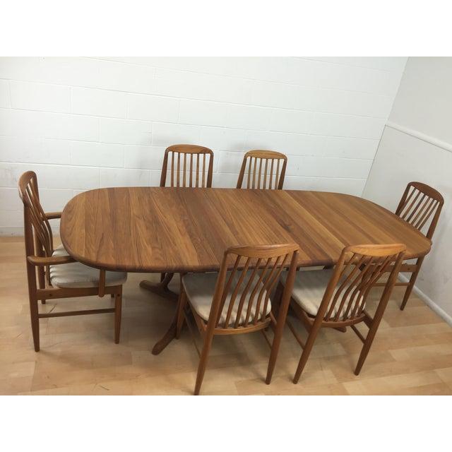 Mid-Century Modern Benny Linden Mid-Century Modern Teak Dining Set For Sale - Image 3 of 11