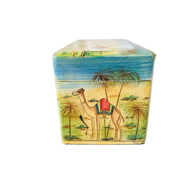 Asian India Painted Wood Box For Sale - Image 3 of 5