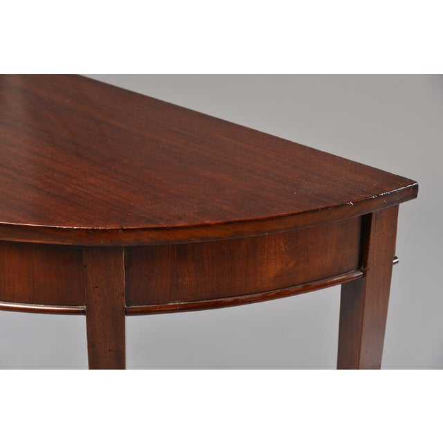 Empire English Mahogany Demi Lune Tables - a Pair For Sale - Image 3 of 13